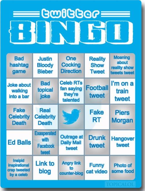 Play Twitter Bingo!